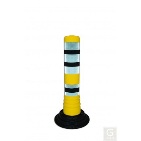 Flexibler Kunststoffpfosten zum Aufkleben - gelb