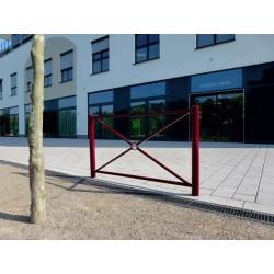 Stadtzaunelement mit Flachkopf, Länge 1500 mm, beschichtet DB 703