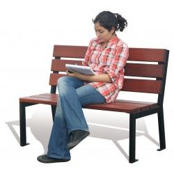 Sitzbänke aus Stahl und Holz, zum Aufdübeln, ohne Armlehnen