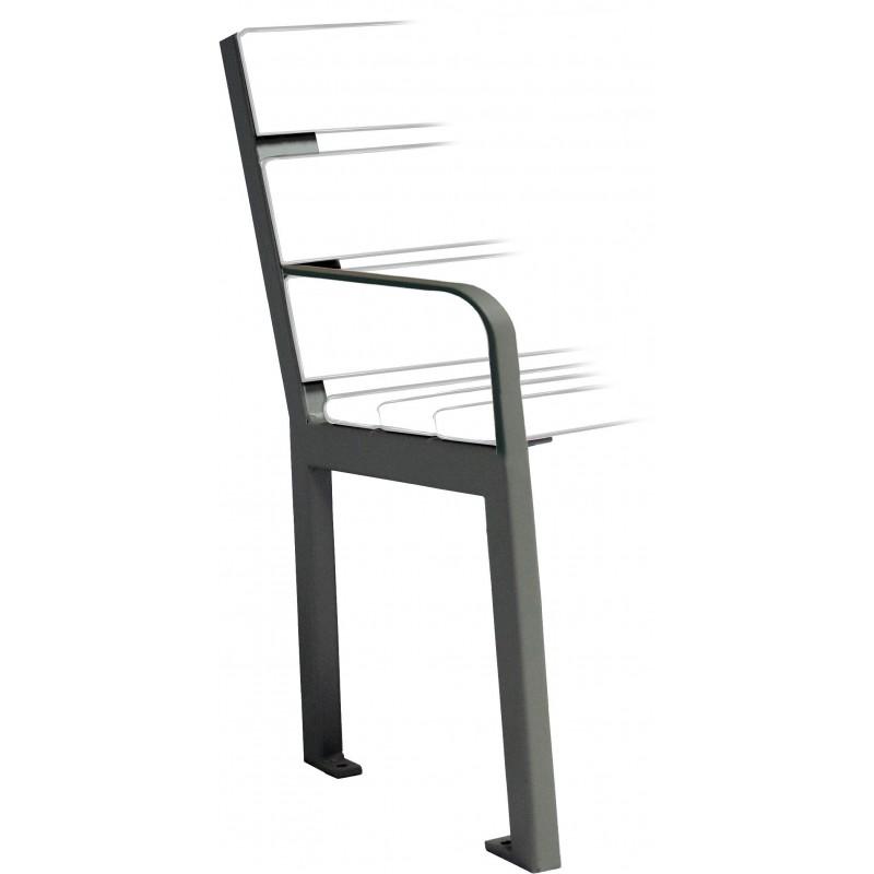 sitzb nke aus stahl und holz zum aufd beln mit armlehnen. Black Bedroom Furniture Sets. Home Design Ideas