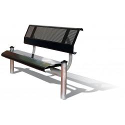 Sitzbank mit Rückenlehne, zum Einbetonieren