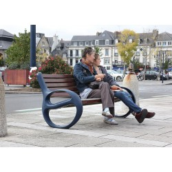 Sitzbank mit Rückenlehne