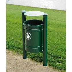 Abfallbehälter 40 L mit Zierkopf