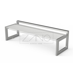 Sitzbank aus Edelstahl, ohne Rückenlehne