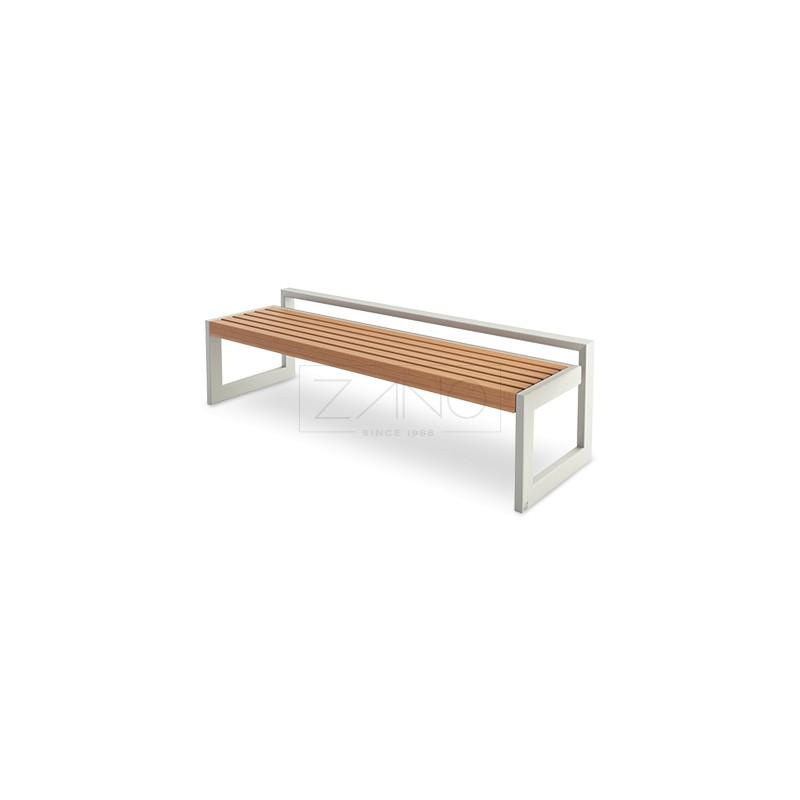 sitzbank aus stahl edelstahl und holz. Black Bedroom Furniture Sets. Home Design Ideas