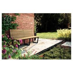 Sitzbank aus Stahl und Holz, Länge 1800 mm