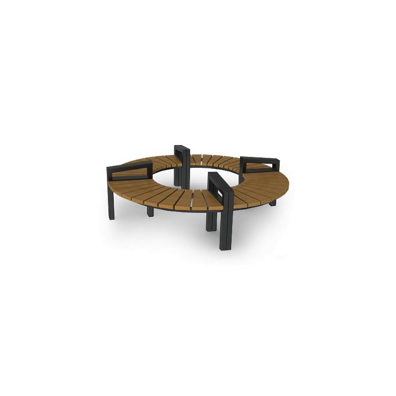 sitzbank aus stahl oder edelstahl und holz. Black Bedroom Furniture Sets. Home Design Ideas
