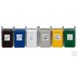 Abfallsammler City G 3 - Inh. 15 Liter - zur Wandbefestigung