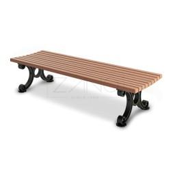 Sitzbank ohne Arm- und Rückenlehne