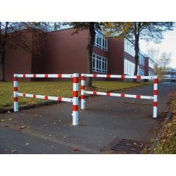 Wegesperre schwenkbar, mit Dreikantverschluss, zum Einbetonieren, Breiten 1500 - 3000 mm
