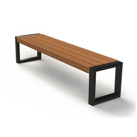 moderne sitzbank aus stahl und holz ohne r ckenlehne. Black Bedroom Furniture Sets. Home Design Ideas