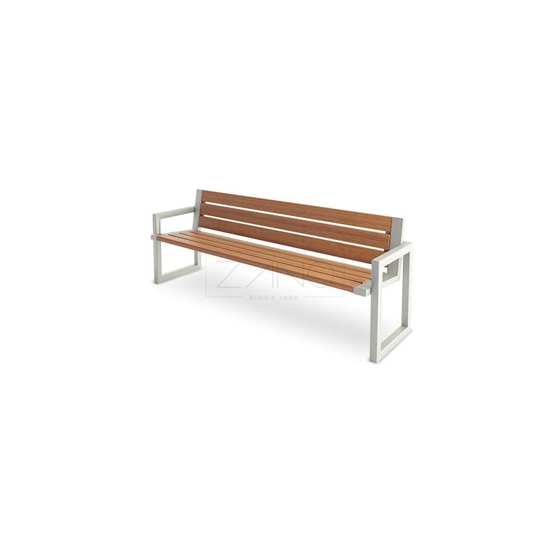 sitzbank mit armlehnen und r ckenlehne. Black Bedroom Furniture Sets. Home Design Ideas