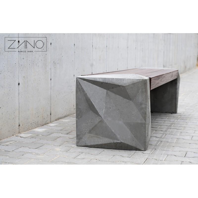 parkbank ohne r ckenlehne aus beton. Black Bedroom Furniture Sets. Home Design Ideas
