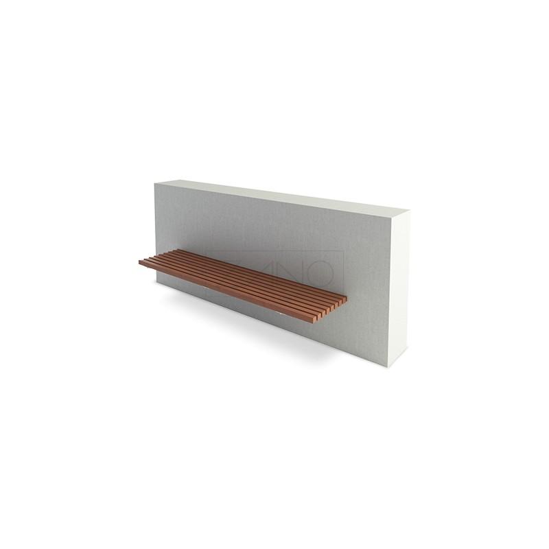 sitzbank zur wandmontage. Black Bedroom Furniture Sets. Home Design Ideas
