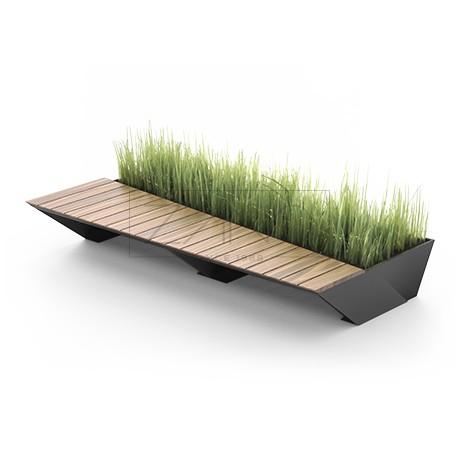 Moderne Sitzbank moderne sitzbank mit pflanzbehälter