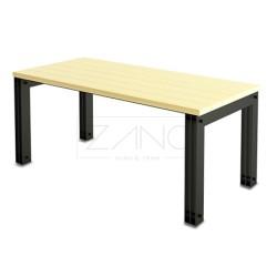 Moderner Tisch aus Stahlblech und Holz