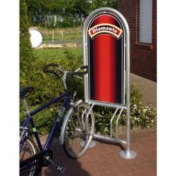 Fahrradständer mit Werbung