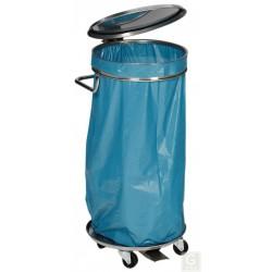 Mobiler Abfallsammler aus Edelstahl - mit Fußpedal
