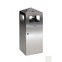 Kombiascher H 92 4-fach Einwurf - Inh. 80 Liter - Edelstahl