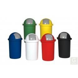 Kunststoff-Abfallbehälter mit Einwurfklappe - Inh. 50 Liter